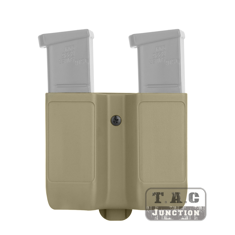 Quick Draw Double Magazine Mag Pouch Case Stack Duty Belt Matte for Colt 1911
